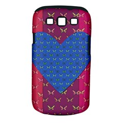 Butterfly Heart Pattern Samsung Galaxy S III Classic Hardshell Case (PC+Silicone)
