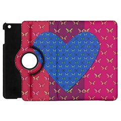 Butterfly Heart Pattern Apple Ipad Mini Flip 360 Case