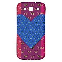 Butterfly Heart Pattern Samsung Galaxy S3 S Iii Classic Hardshell Back Case