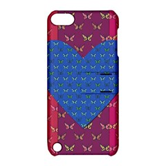 Butterfly Heart Pattern Apple iPod Touch 5 Hardshell Case with Stand