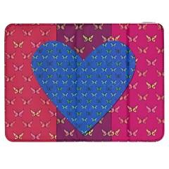Butterfly Heart Pattern Samsung Galaxy Tab 7  P1000 Flip Case