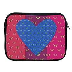 Butterfly Heart Pattern Apple Ipad 2/3/4 Zipper Cases