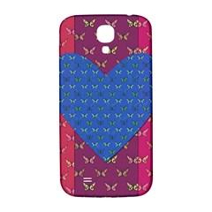 Butterfly Heart Pattern Samsung Galaxy S4 I9500/I9505  Hardshell Back Case
