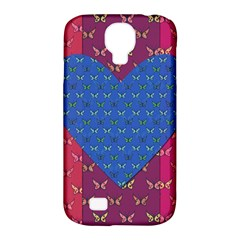 Butterfly Heart Pattern Samsung Galaxy S4 Classic Hardshell Case (PC+Silicone)