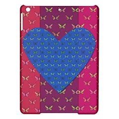 Butterfly Heart Pattern iPad Air Hardshell Cases