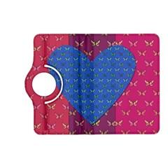 Butterfly Heart Pattern Kindle Fire Hd (2013) Flip 360 Case