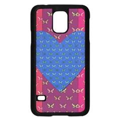 Butterfly Heart Pattern Samsung Galaxy S5 Case (Black)