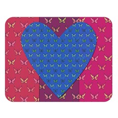 Butterfly Heart Pattern Double Sided Flano Blanket (large)
