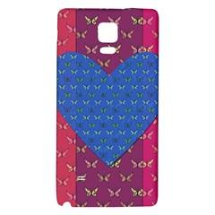 Butterfly Heart Pattern Galaxy Note 4 Back Case