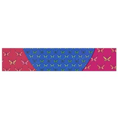 Butterfly Heart Pattern Flano Scarf (Small)
