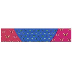 Butterfly Heart Pattern Flano Scarf (large)