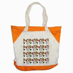 Handmade Pattern With Crazy Flowers Accent Tote Bag