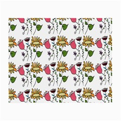 Handmade Pattern With Crazy Flowers Small Glasses Cloth (2-Side)