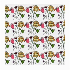 Handmade Pattern With Crazy Flowers Medium Glasses Cloth