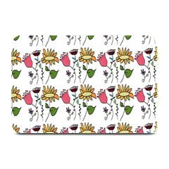 Handmade Pattern With Crazy Flowers Plate Mats