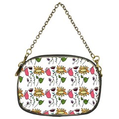 Handmade Pattern With Crazy Flowers Chain Purses (One Side)