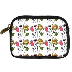 Handmade Pattern With Crazy Flowers Digital Camera Cases