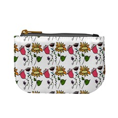 Handmade Pattern With Crazy Flowers Mini Coin Purses
