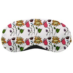 Handmade Pattern With Crazy Flowers Sleeping Masks