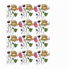Handmade Pattern With Crazy Flowers Large Garden Flag (Two Sides)