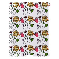Handmade Pattern With Crazy Flowers Apple iPad 3/4 Hardshell Case (Compatible with Smart Cover)