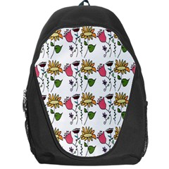 Handmade Pattern With Crazy Flowers Backpack Bag