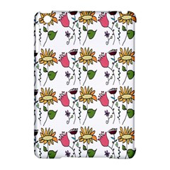 Handmade Pattern With Crazy Flowers Apple Ipad Mini Hardshell Case (compatible With Smart Cover)