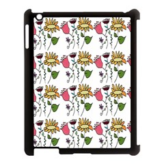 Handmade Pattern With Crazy Flowers Apple Ipad 3/4 Case (black)
