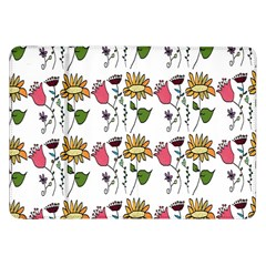 Handmade Pattern With Crazy Flowers Samsung Galaxy Tab 8.9  P7300 Flip Case