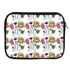 Handmade Pattern With Crazy Flowers Apple iPad 2/3/4 Zipper Cases