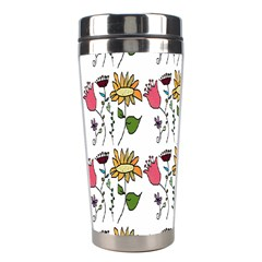 Handmade Pattern With Crazy Flowers Stainless Steel Travel Tumblers