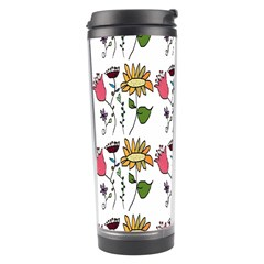Handmade Pattern With Crazy Flowers Travel Tumbler