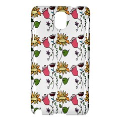 Handmade Pattern With Crazy Flowers Samsung Galaxy Note 3 N9005 Hardshell Case