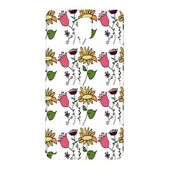 Handmade Pattern With Crazy Flowers Samsung Galaxy Note 3 N9005 Hardshell Back Case