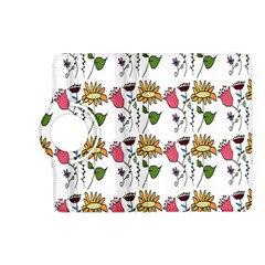 Handmade Pattern With Crazy Flowers Kindle Fire HD (2013) Flip 360 Case