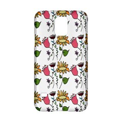 Handmade Pattern With Crazy Flowers Samsung Galaxy S5 Hardshell Case