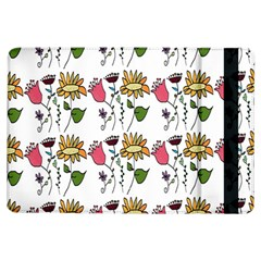 Handmade Pattern With Crazy Flowers iPad Air Flip