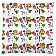 Handmade Pattern With Crazy Flowers Large Flano Cushion Case (One Side)