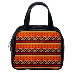 Abstract Lines Seamless Pattern Classic Handbags (One Side)