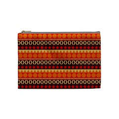 Abstract Lines Seamless Pattern Cosmetic Bag (Medium)
