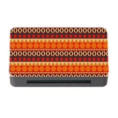 Abstract Lines Seamless Pattern Memory Card Reader with CF
