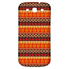 Abstract Lines Seamless Pattern Samsung Galaxy S3 S III Classic Hardshell Back Case