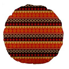 Abstract Lines Seamless Pattern Large 18  Premium Round Cushions