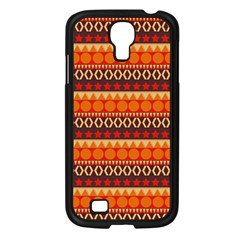 Abstract Lines Seamless Pattern Samsung Galaxy S4 I9500/ I9505 Case (Black)