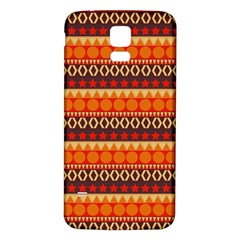 Abstract Lines Seamless Pattern Samsung Galaxy S5 Back Case (White)