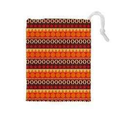 Abstract Lines Seamless Pattern Drawstring Pouches (large)