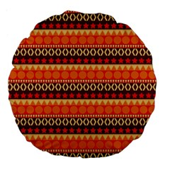 Abstract Lines Seamless Pattern Large 18  Premium Flano Round Cushions