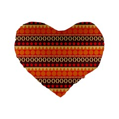 Abstract Lines Seamless Pattern Standard 16  Premium Flano Heart Shape Cushions