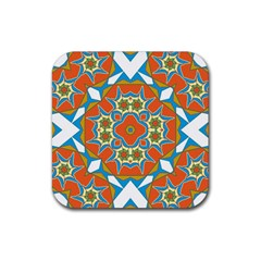 Digital Computer Graphic Geometric Kaleidoscope Rubber Coaster (square)
