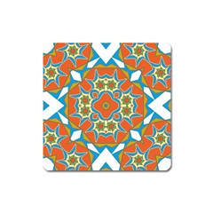 Digital Computer Graphic Geometric Kaleidoscope Square Magnet